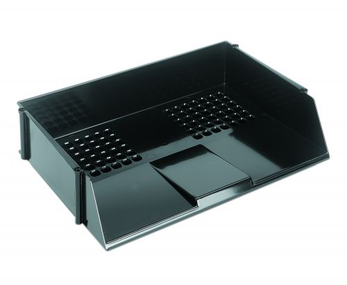 ValueX Deflecto Letter Tray Wide Entry Black