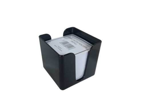 ValueX Deflecto Cubic Note Block and Holder Black
