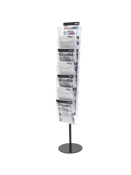 Deflecto 7 Pocket Literature File Floor Stand A4 CP082YTCRY