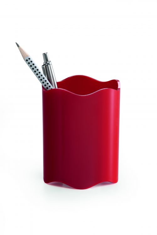 Durable Trend Pen Cup Red