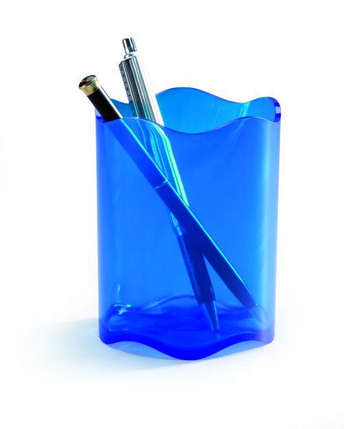Durable Trend Pen Cup Blue