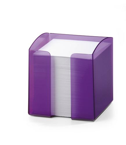 Durable Note Box Trend Transparent Purple Pack of 6