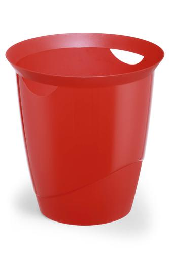 Durable Waste Bin Trend 16 Litres Transparent Red