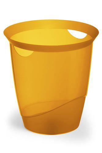Durable Trend Waste Basket Translucent Orange 16 Litre 1701710009
