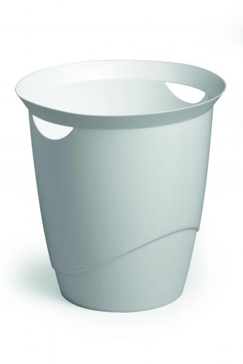 Durable Vivid Waste Bin White