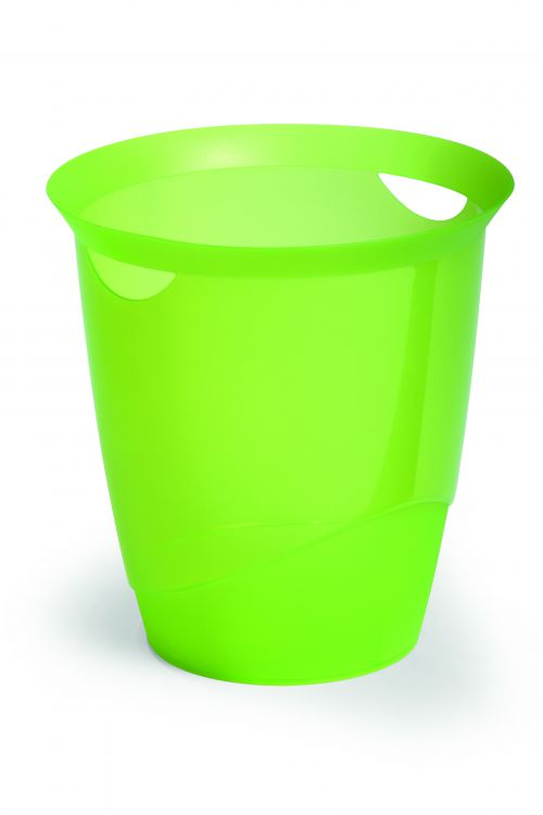 Durable Trend Waste Basket Translucent Light Green 16L 1701710017