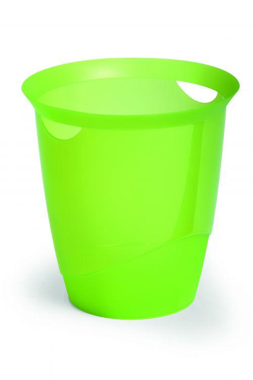 Durable Waste Bin 16 Litre Opaque Light Green Pack of 6