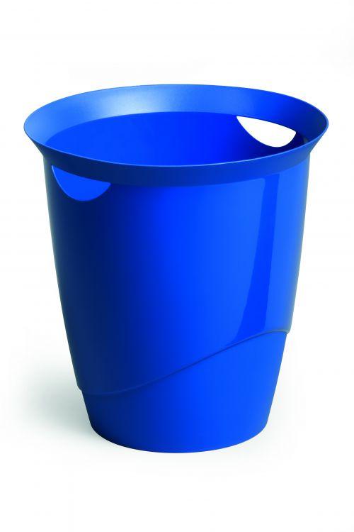 Durable Waste Bin Trend 16 Litres Blue