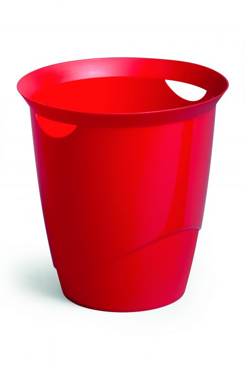 Durable Waste Bin Trend 16 Litres Red