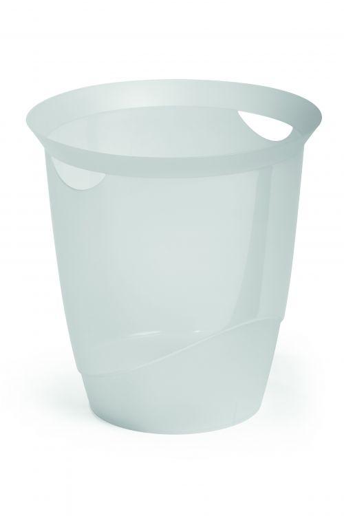 Durable Waste Bin 16 Litre Transparent
