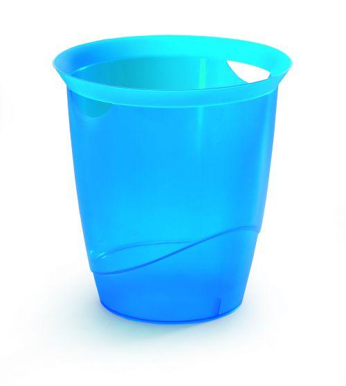 Durable Waste Bin 16 Litre Indigo Blue Pack of 6