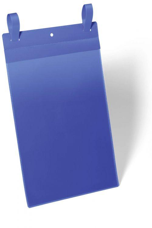 Durable Logistic Pocket with Arrow-Shaped Straps (A4 Portrait) Blue 175007 [Pack 50]