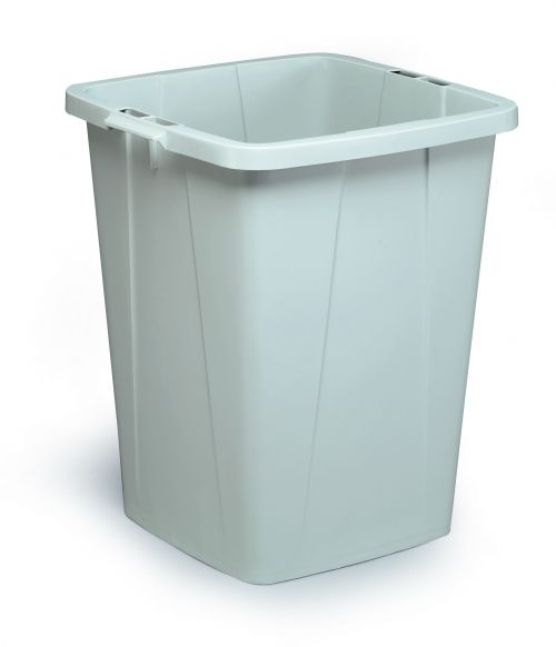 Durable Durabin 90L Square Grey Bin 1800474050