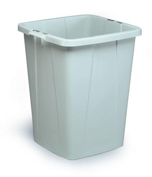 Durable Durabin Slim Bin for Recycling Waste 90 Litre Capacity 515x485x605mm Grey Ref 1800474050