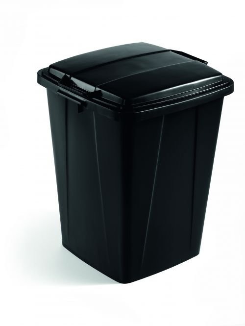 Durable Durabin 90L Recycled Black Bin 1800474221