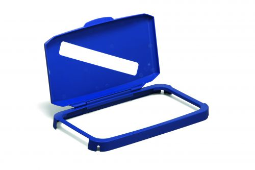 Durable DURABIN 60 Hinged Lid with Slot Cut-Out Blue