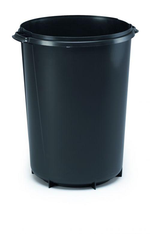 Durable DURABIN ROUND 40 litre Bin Black