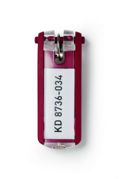 Durable Key Clip Red Ref 1957-03 [Pack 6]