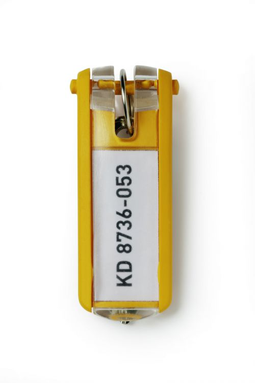 Durable Key Clip Yellow [Pack 6] 195704