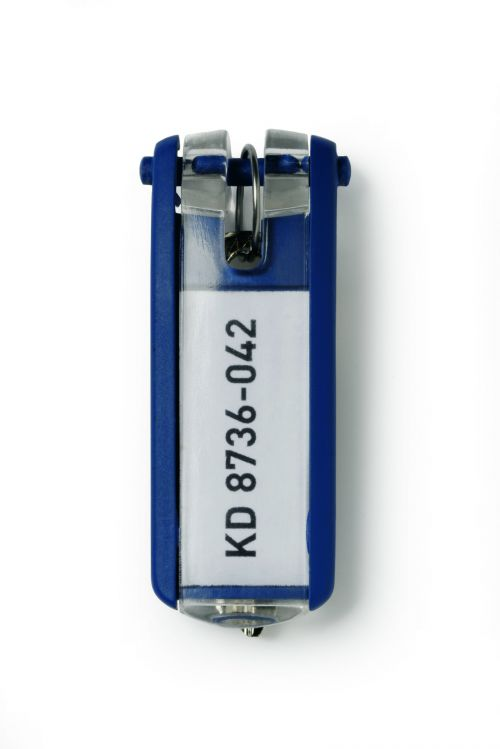 Durable Key Clip D Blue Ref 1957-07 [Pack 6]