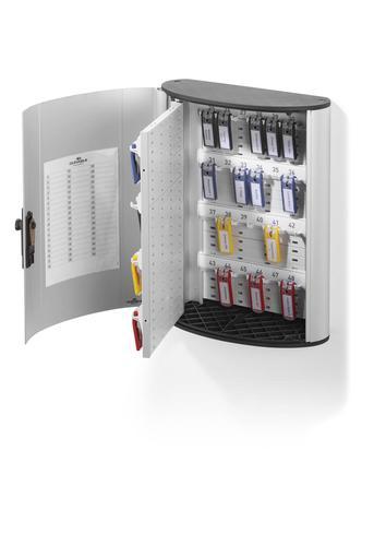 Durable Combination Lock Key Box 48 Key Capacity Silver 197623