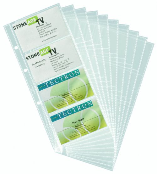 Durable Visifix Refill Set for 2385/2461 Business Card Albums Ref:2387 [10]