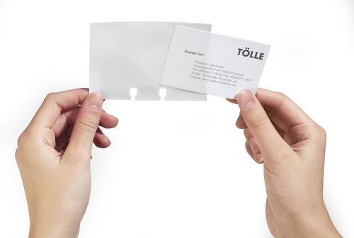 Durable Visifix Business Card Pocket Transparent Refill 241819 [40]