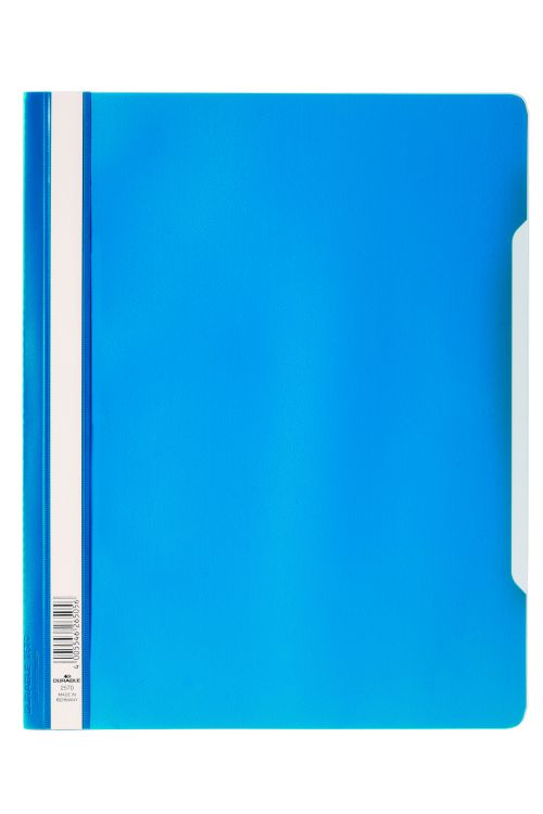 Durable Clear View Report Folder Extra Wide A4 Blue 257006 (PK50)