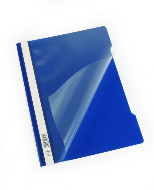 Durable Clear View Report Folder A4 Dark Blue (Pack 50) 257307