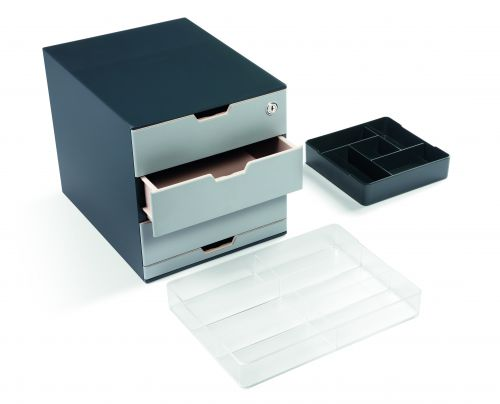 Durable COFFEE POINT Storage Box 4 Drawer  Coffee Station Unit Complete with Accessories