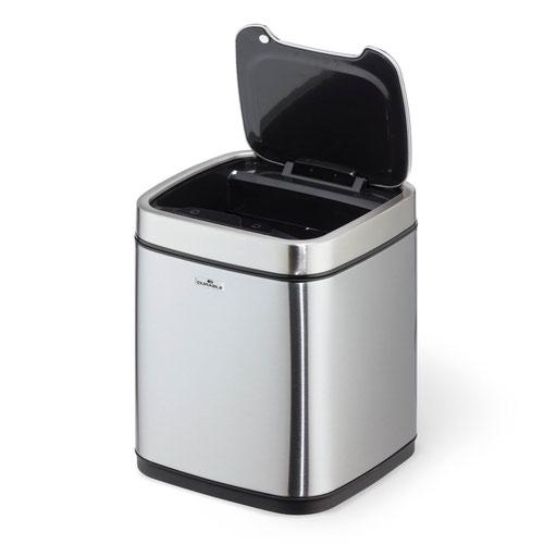 Durable Sensor Bin No Touch 6 Litre Silver 342023