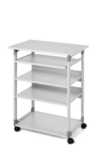 Durable System Computer Trolley 75VH (HWD) 960-1240x750x500mm Grey 372010