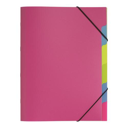 Pagna Polypropylene Fresh Part File A4 Dark Pink