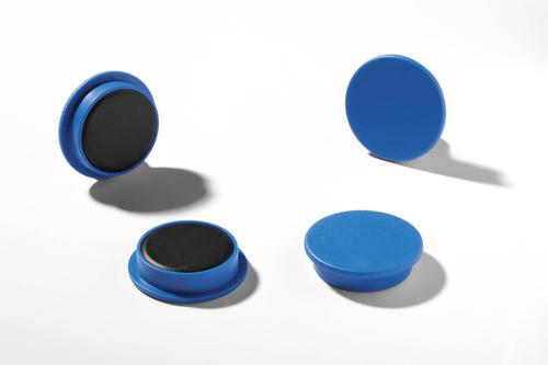 Durable Magnets 32mm Blue 470306 [Pack 4]