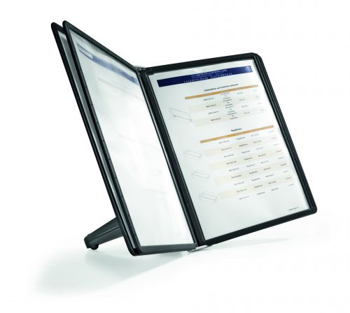 Durable Display Unit Space Saving with 5 Panels A4 Black Ref 5540/01