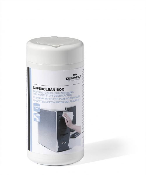 Durable Superclean 100 Wipes White