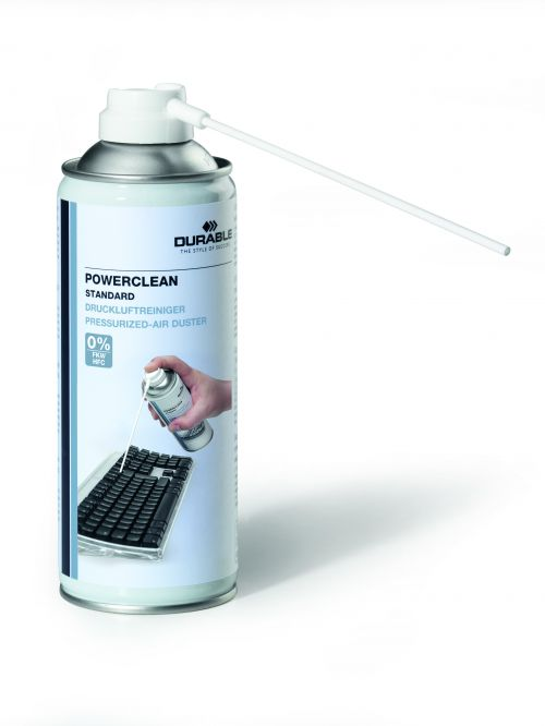Durable Powerclean Standard Air Duster 400ml 579619
