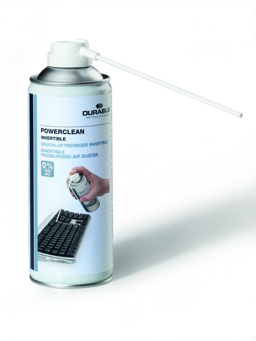 Durable Powerclean Air Duster Gas Cleaner Flammable Inverted 200ml Ref 5797