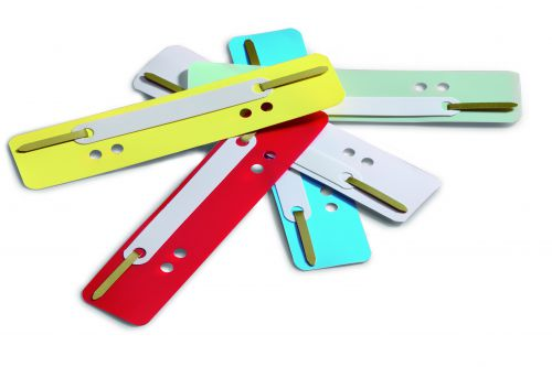 Durable Flexi Filing Strip Fasteners for 60mm and 80mm Assorted Colours Ref 6910/00 [Pack 25]