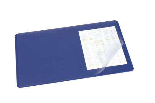 Durable Desk Mat with Clear Overlay 40 x 53cm Dark Blue Pack of 5
