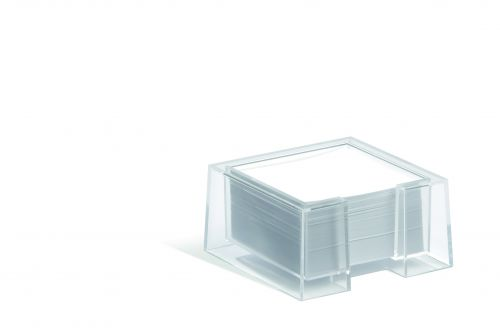 Durable CUBO Note Box Transparent Pack of 1