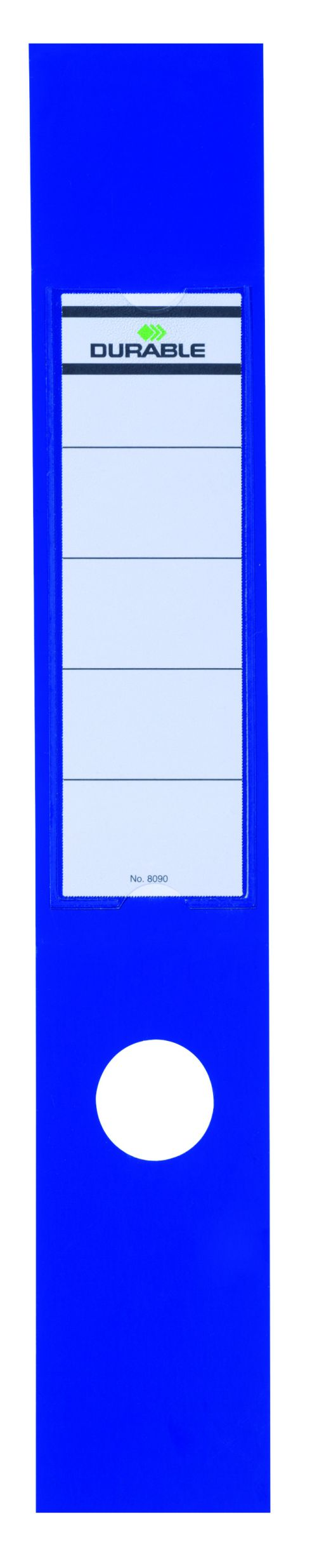 Durable Ordofix Self-Adhesive File Spine Label, 60mm, Blue (Pack of 10) 8090/06