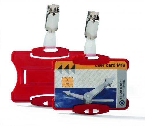 Durable Security Pass Holder Red Pack 25
