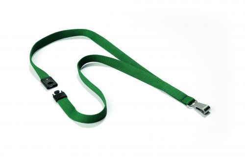 Durable Textile Lanyard With Snap Hook 15mm Dark Green (10 Pack) 812732