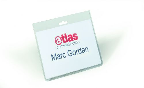 Durable Security Name Badge 60x90mm Transparent (Pack of 20) 8135/19