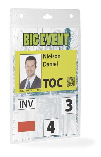 Durable Event Name Badges Clear 176x114mm (No Fastening) 852619 [Pack 20]