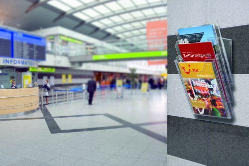 Durable Combiboxx Portrait Literature Holder Transparent 3 X A4 8580/19 - DB80342