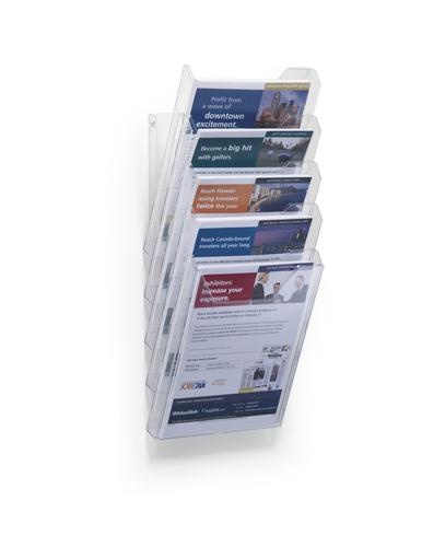 Durable Combiboxx Extension Set for Literature Stand 5 Holders A4 Clear 858619