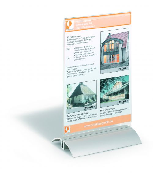 Durable Presenter Sign and Literature Holder A5 Clear 858819