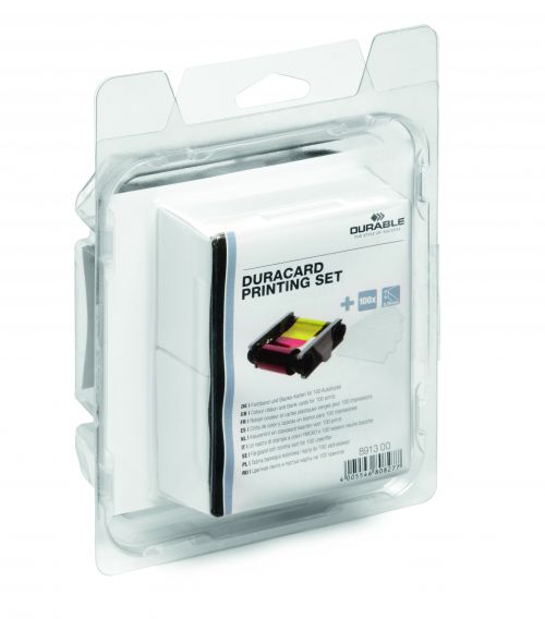Durabel Duracard ID 300 Consumables Kit Colour Ribbon+100 Cards (0.76mm) 891300